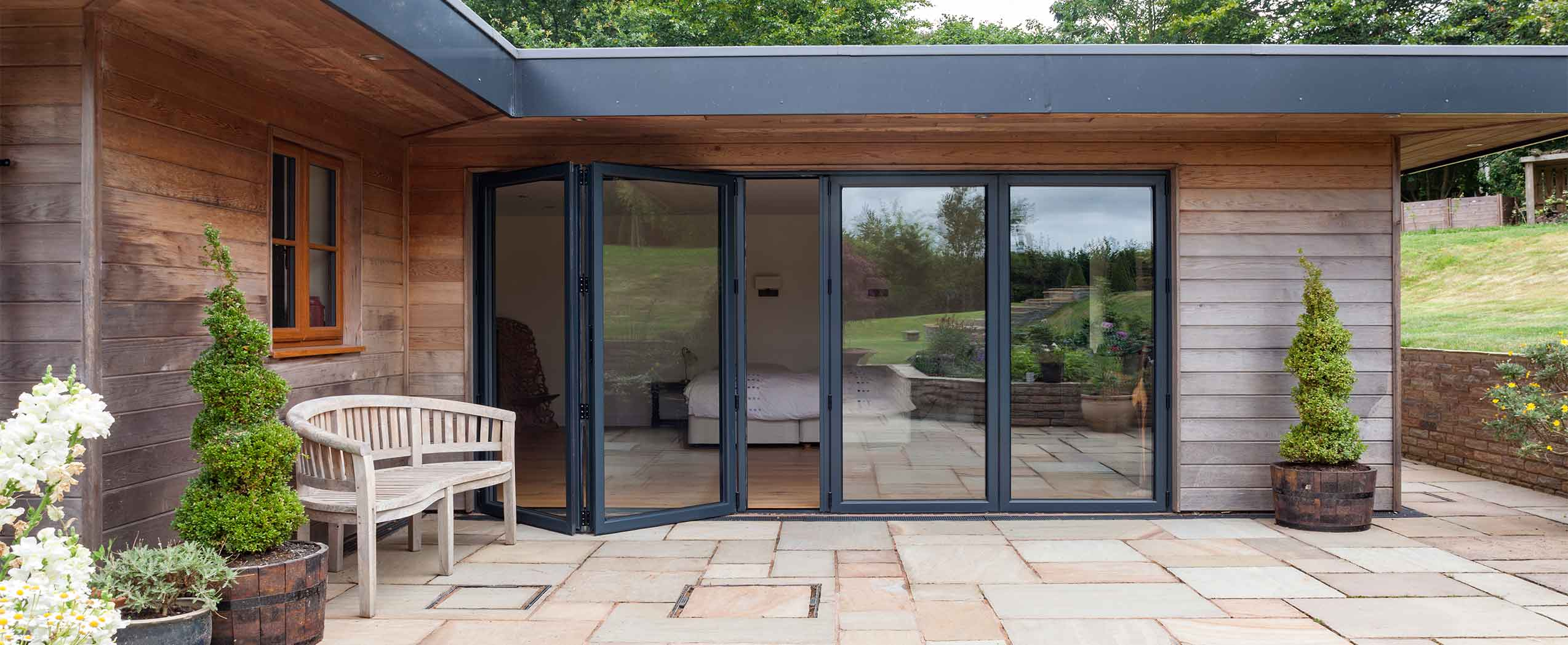 4 panel bifold doors in aluminium