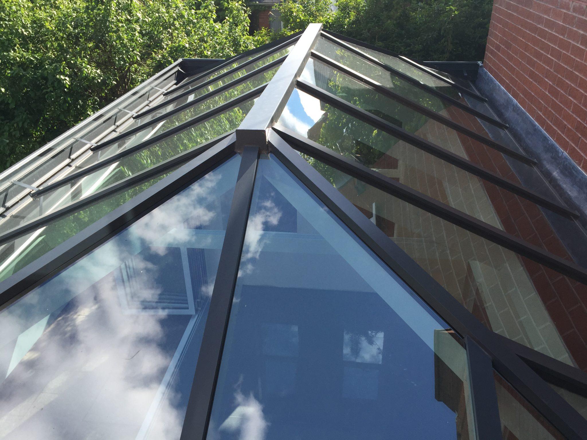 conservatory roof grey aluminium