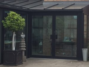 double commercial entrance door