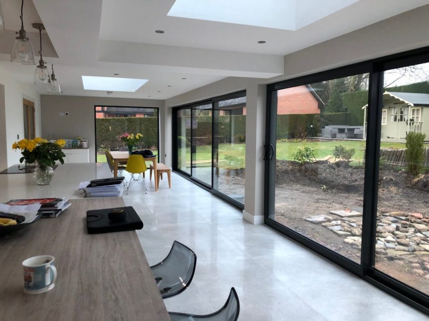 Large Gl Sliding Doors in Derbyshire - CMC Aluminium on