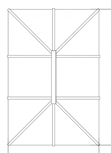regular roof lantern drawing