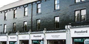 Ponsford Aluminium Shop Front Sheffield