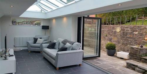 Skyroom with 3 panel Bifold Doors Grey Sheffield