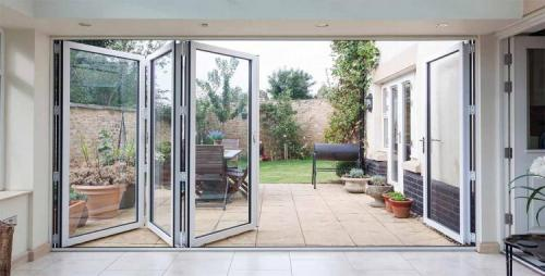 4 panel bifold door in white Sheffield
