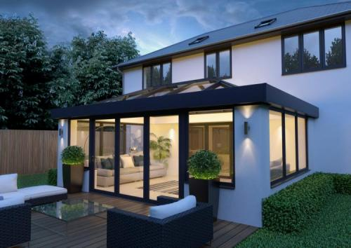 Black and white night exterior available in chesterfield